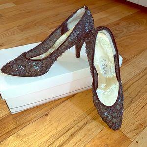 Vintage Sequins Heels